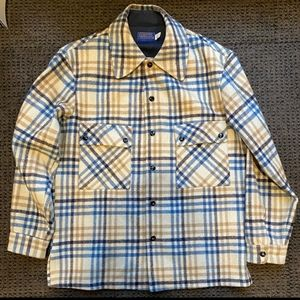 Pendleton wool jacket vintage snap button medium